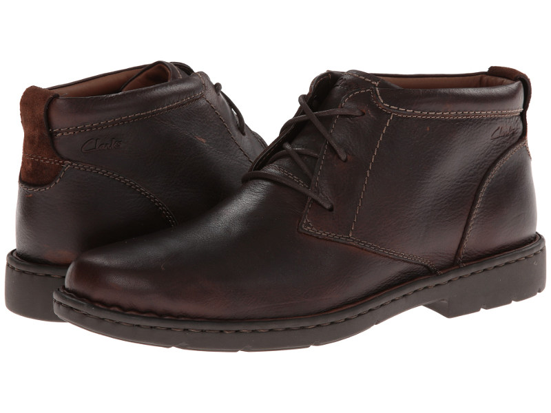CLARKS STRATTON LIMIT LEATHER CHUKKA BOOTS